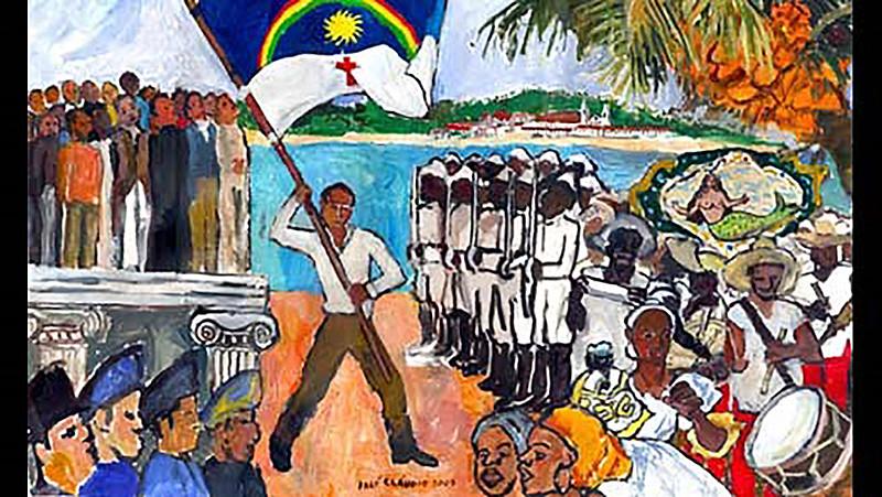 A bandeira do estado que até hoje é utilizada oficialmente, foi criada neste momento