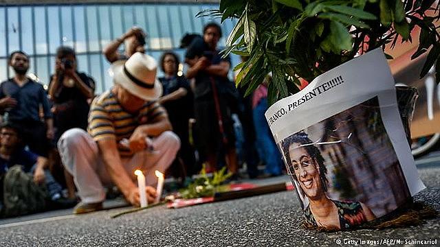 Homenagens a Marielle Franco no dia 14 de março de 2019, um ano após o assassinato