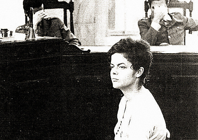Dilma Rousseff durante auditoría militar en Rio de Janeiro, en 1970