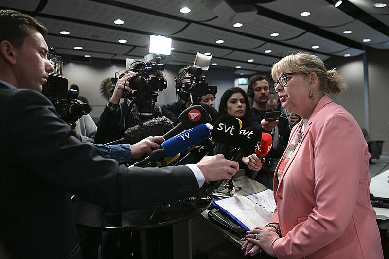 Eva-Marie Persson (dir.), responsável pela reabertura do caso e pelo pedido de prisão à Justiça sueca