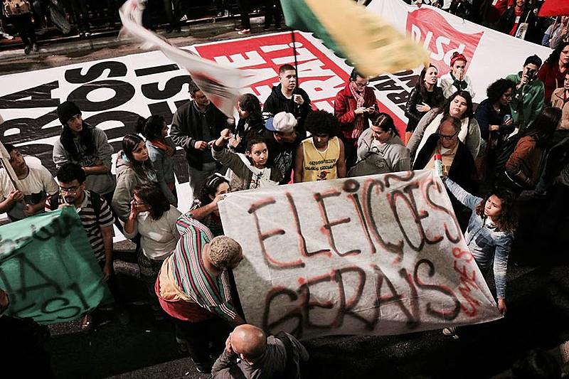 """Manifestação pelas Eleições 'Diretas Já"""" que ocorreu em São Paulo na quinta-feira (18)"""