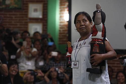 La vocera Patricio Martínez recibió el respaldo de 58 etnias indígenas de México