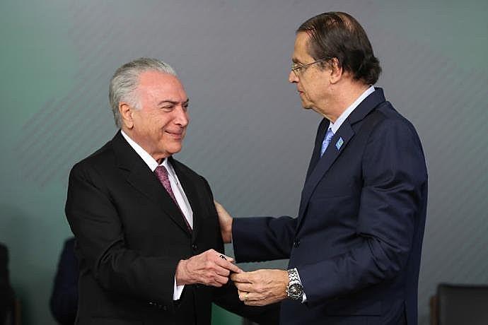 Posse de Viera de Mello como novo ministro do Trabalho, em 11 de julho