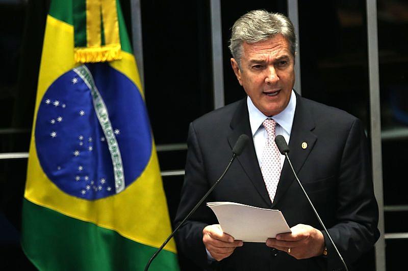 O ex-presidente não quis comentar o processo de impeachment de Dilma Rousseff, em análise no Senado.