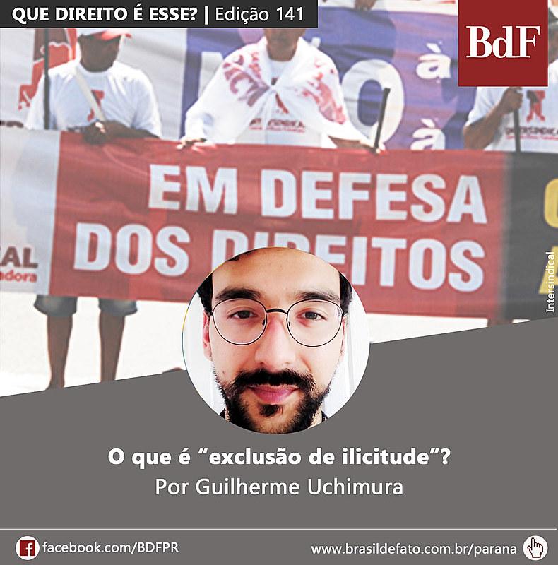 Guilherme Uchimura é advogado popular e colunista do Brasil de Fato Paraná