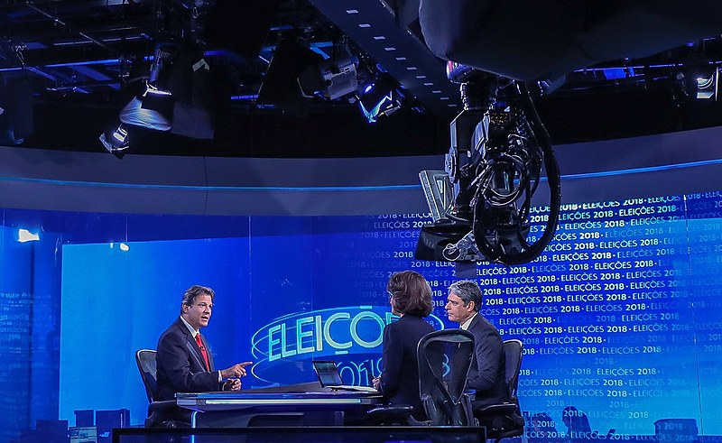 Fernando Haddad, candidato do PT à presidência, foi entrevistado no 'Jornal Nacional'