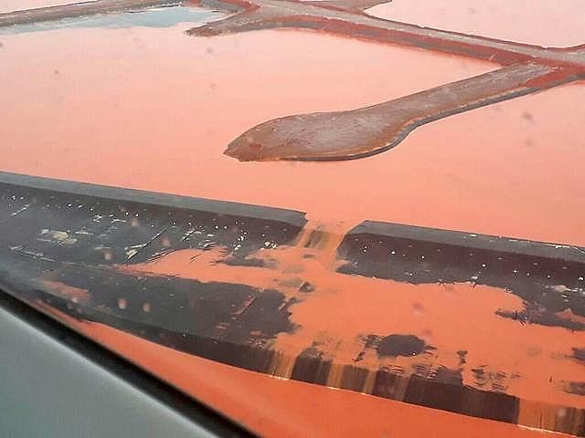 Imagens de helicóptero mostram vazamento em Bacia da  Hydro Alunorte, no Pará