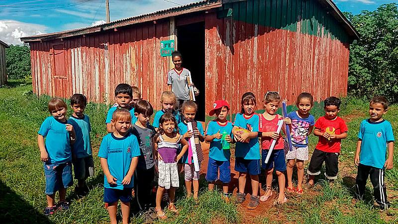 Escola Municipal do Campo Trabalho e Saber no assentamento Eli Vive I, no Paraná