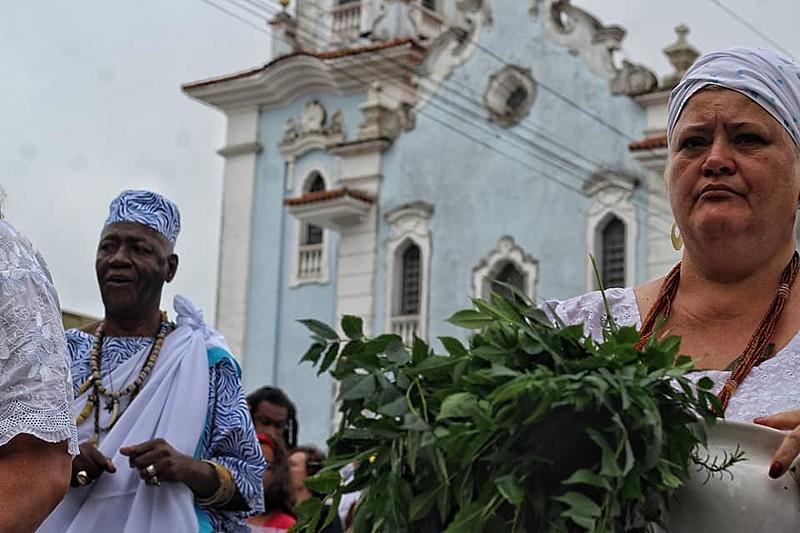 Homenagem também foi à Nossa Senhora do Rosário, no sincretismo, Oxum, dona da fertilidade e da riqueza.