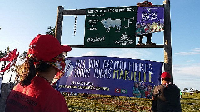 "Landless women occupy farm of João ""de Deus"""