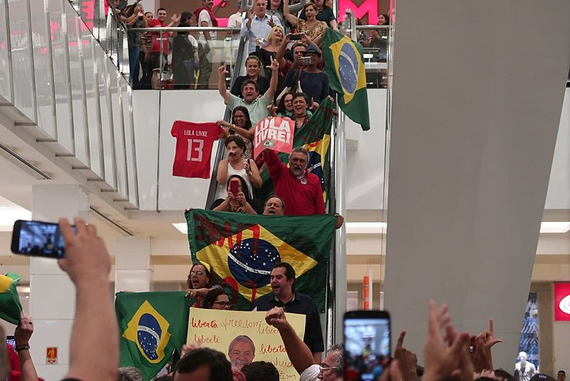 """Potiguares fazem """"Lulaço"""" no shopping de Flávio Rocha em Natal"""