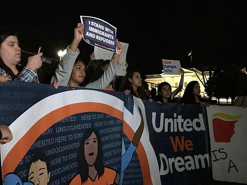 Protesto contra Donald Trump em Washington