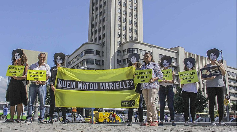Anistia Internacional lembra dois meses da morte de Marielle