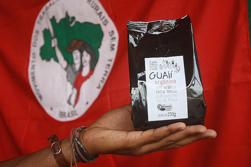 Café Guaií (semente boa), produzido pelo Quilombo Campo Grande