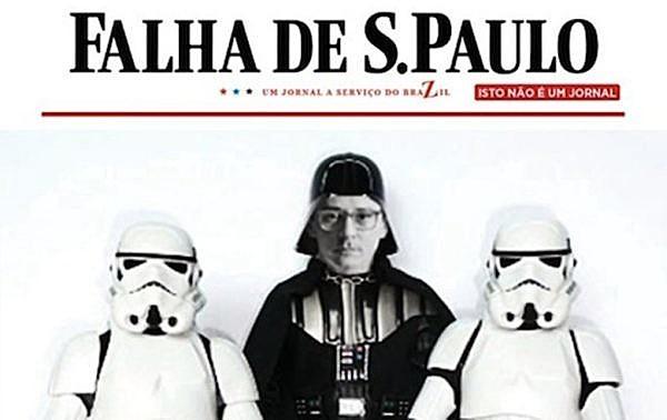 """Blog """"Falha de S. Paulo"""", paródia do jornal Folha de S. Paulo, foi tirado do ar há sete anos"""