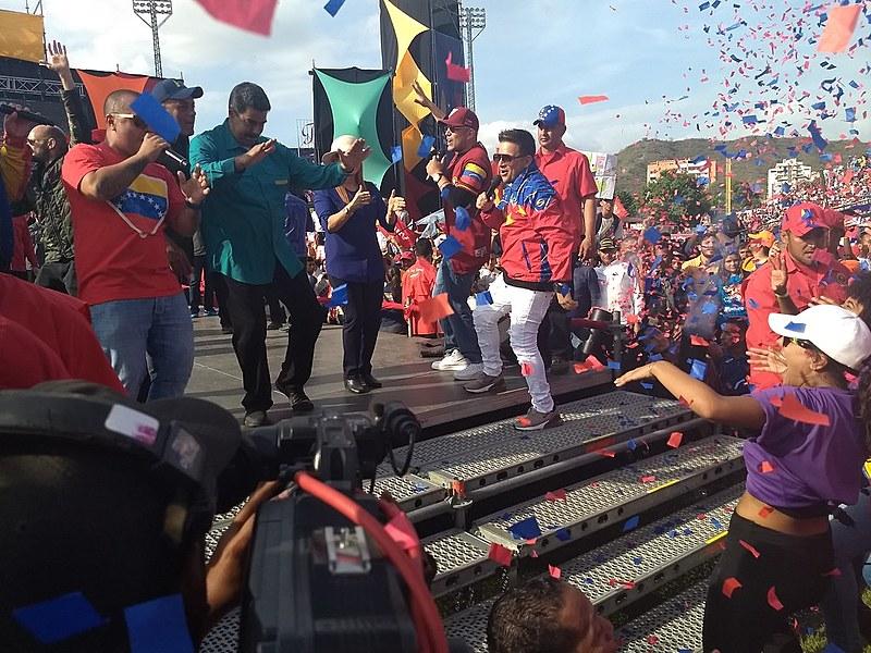 Presidente faz campanha eleitoral na cidade de Maracay, estado de Aragua