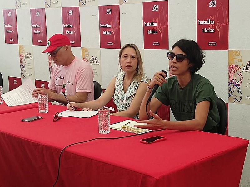 Bela Gil, Larissa Bombardi e José Maria Tardin participam de debate da Expressão Popular