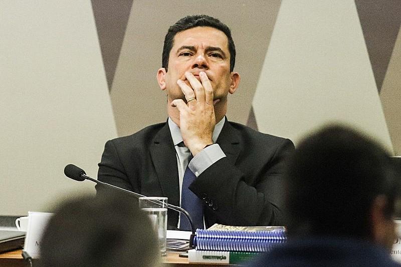 Sérgio Moro durante depoimento no Senado