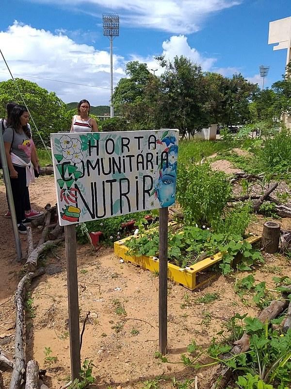 Laboratório de Horta Comunitária Nutrir (LabNutrir) vinculado ao Departamento de Nutrição da UFRN