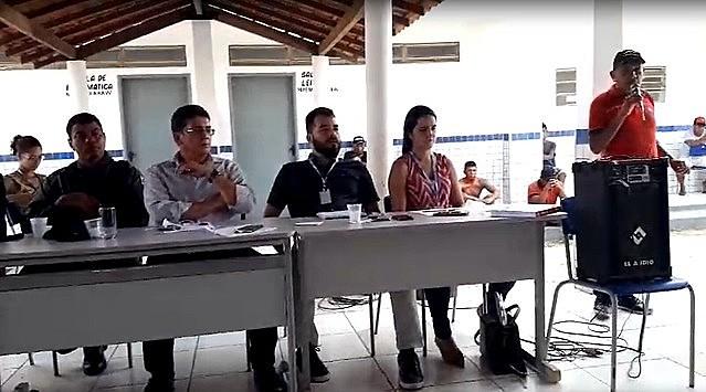 En visita del Secretario de Seguridad Pública de Maranhão, indígenas denunciaron aumento de casos de violencia