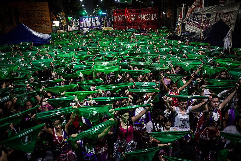 Manifestação desta terça-feira (19) inaugura jornada de mobilizações pela legalização do aborto na Argentina em 2019