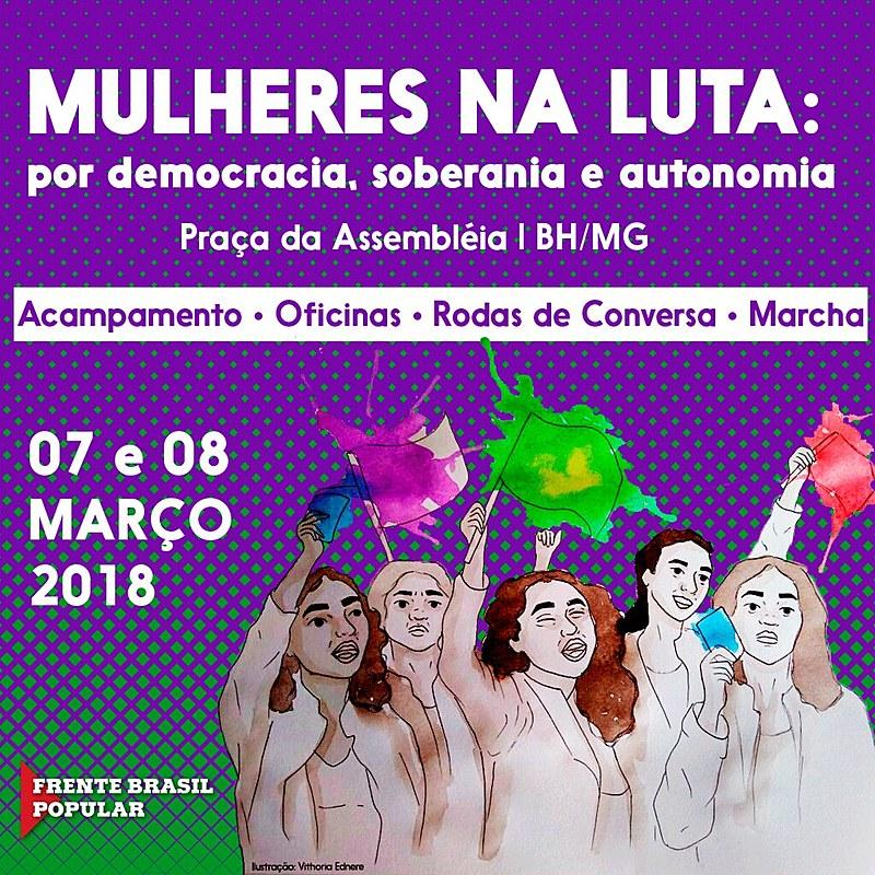 Acampamento reúne mais de 2 mil participantes para luta do Dia Internacional das Mulheres