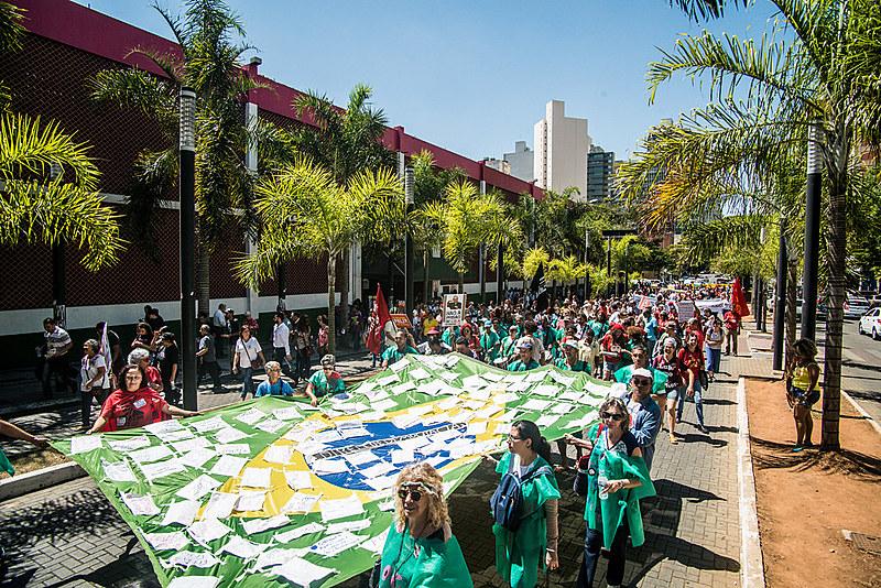 """Neste ano, lema do Grito dos Excluídos é """"Na luta por participação popular, saúde, comida, moradia, trabalho e renda, já!"""""""