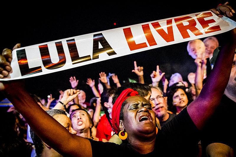 Festival Lula Livre, em junho deste ano, na Praça da República, em São Paulo
