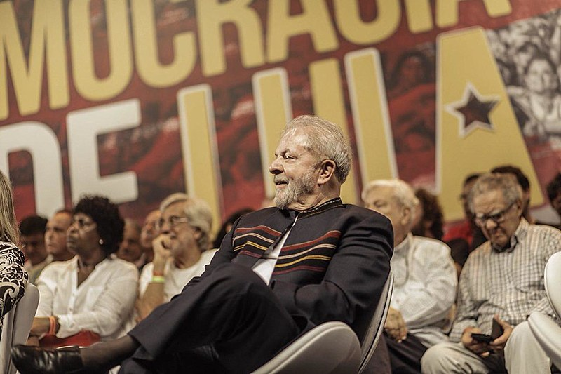 Lula em ato realizado no Rio de Janeiro por artistas e intelectuais