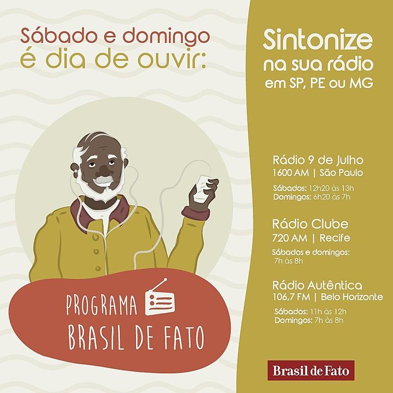 Programa vai ao ar todos os sábado na Rádio Clube AM 720, às 7h / Arte: Gabi Lucena/Brasil de Fato
