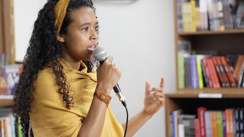 """Advogada Haidée Paixão no debate """"O assassinato da Juventude Brasileira"""", que aconteceu em 3 de dezembro de 2016"""