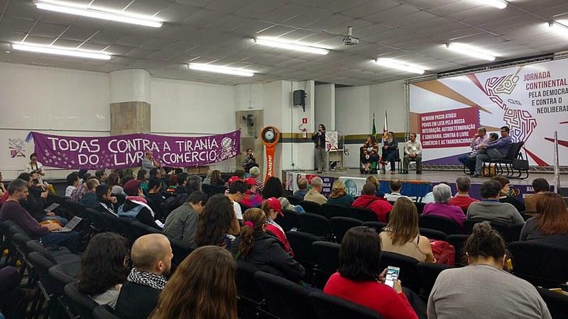 Lançamento da Jornada Continental pela Democracia e contra o Neoliberalismo em São Paulo