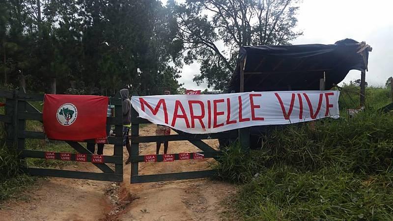 Acampamento do MST em Valinhos, onde a vítima vivia desde dezembro de 2018
