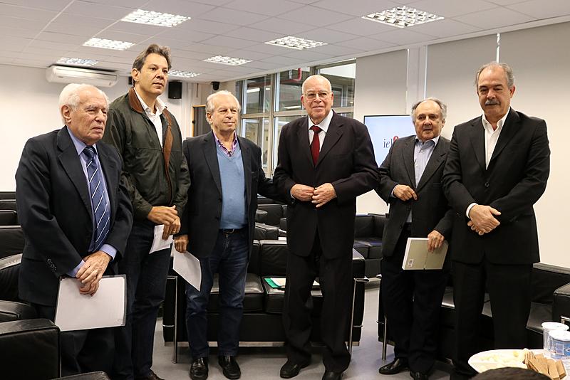Ex-ministro da Educação: José Goldemberg, Fernando Haddad, Renato Janine Ribeiro, Murilo Hingel, Cristovam Buarque e Aloizio Mercadante