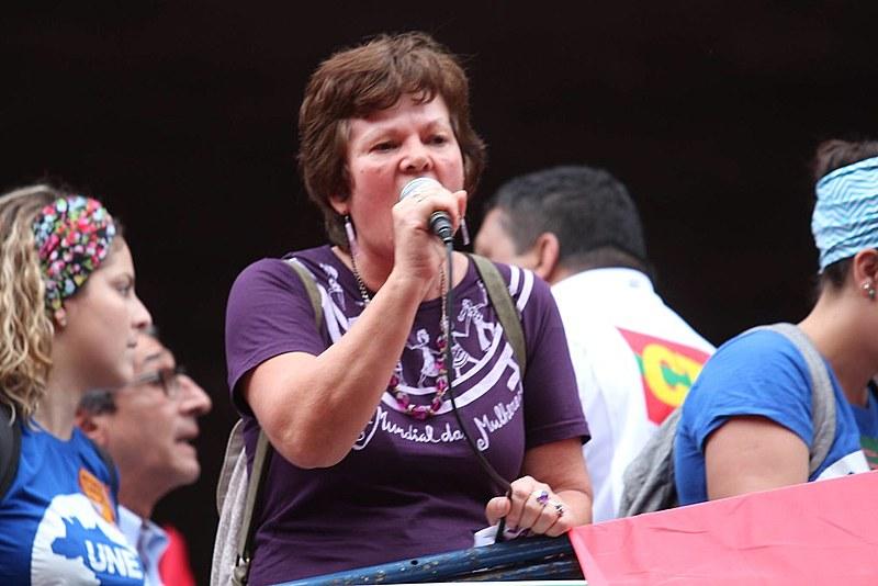 Sônia Coelho, militante da Marcha Mundial de Mulheres e da organização feminista Sempre Viva
