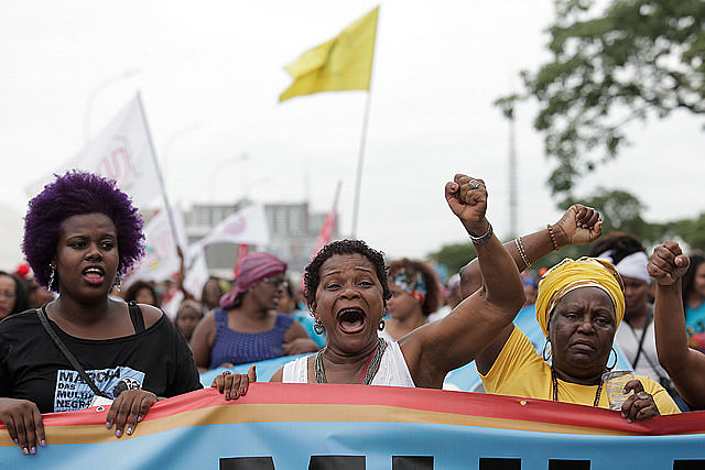 Thousands of black women take to the streets on the Afro-Latin American and Afro-Caribbean Women's Day and the Curly Hair Pride Day