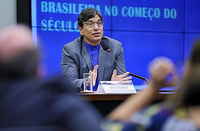 Professor da Unicamp e ex-presidente do Ipea, Márcio Pochmann foi o destaque da comissão da reforma da Previdência nesta quarta (29)