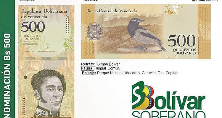 Governo venezuelano apresenta novas notas do bolívar que vão circular no país