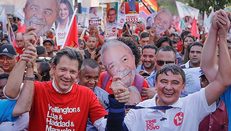 Haddad faz campanha junto ao governador do Piauí e candidato à reeleição Wellington Dias