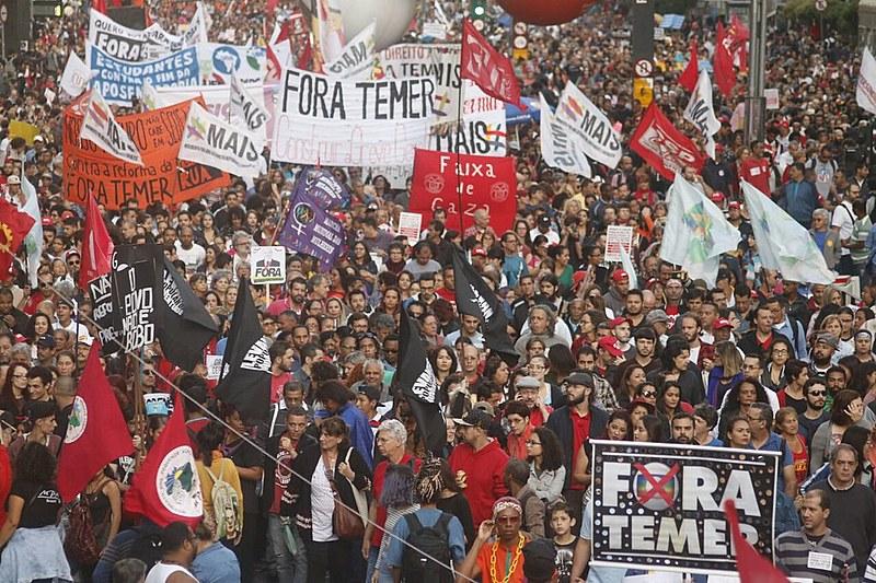 Em São Paulo, ato se concentrou na Av. Paulista e reuniu mais de 70 mil pessoas.