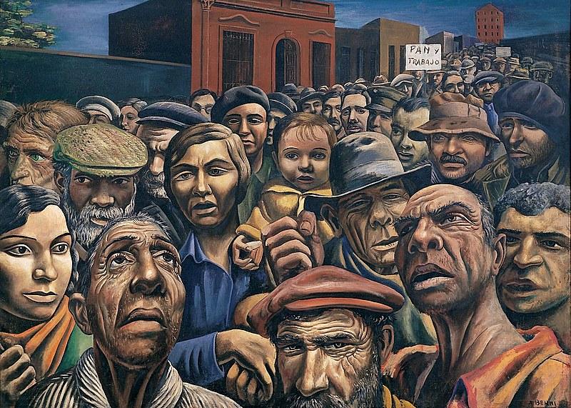 Manifestação, de Antonio Berni (1905-1981)
