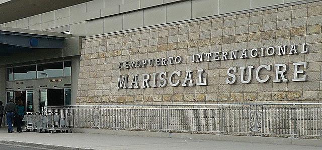 Aeropuerto de Quito, donde Ola Bini fue detenido antes de embarcar en un avión