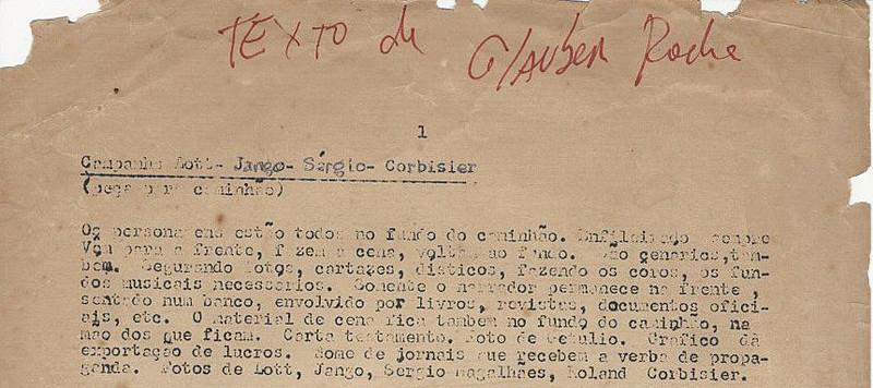 Trecho da peça encontrada no acervo de Augusto Boal