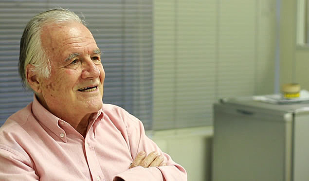 O jornalista Mino Carta, diretor de redação da CartaCapital