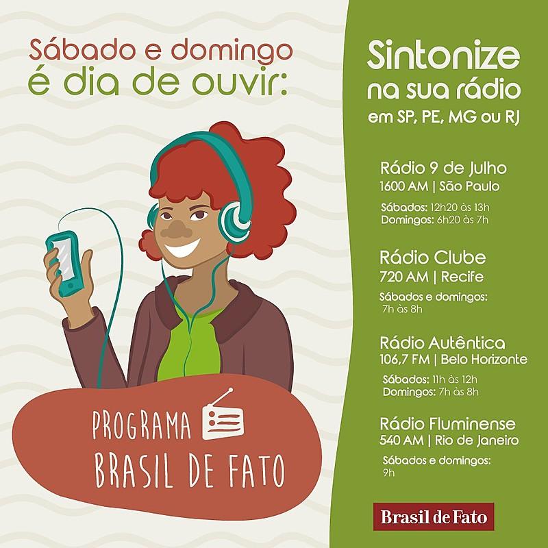 Programa vai ao aos sábados, às 9 horas, pela Rádio Fluminense 540 AM, com reprise aos domingos, no mesmo horário