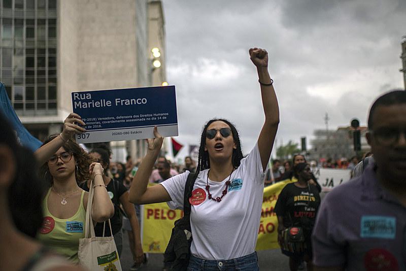 Manifestação contra os cortes da educação, em 13 de agosto, no centro do Rio