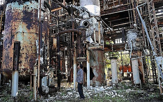 Ruínas do desastre de Bhopal