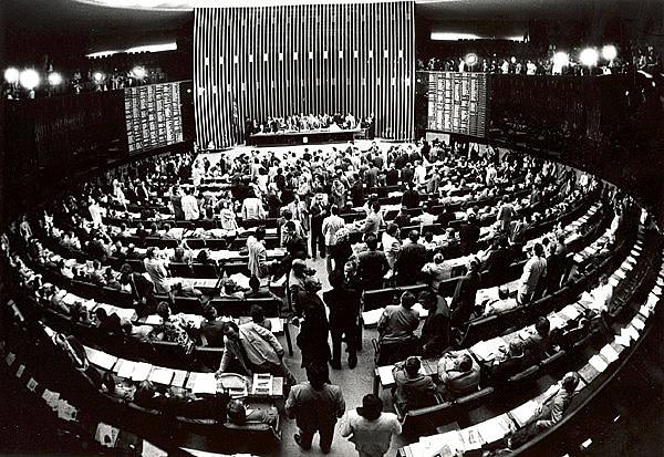 Cámara de Diputados durante la elaboración de la Constitución Federal de 1988