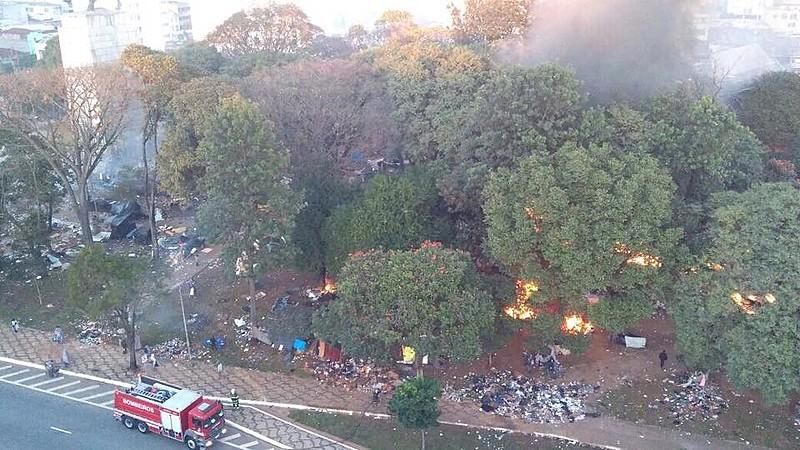 Ação da Polícia Militar (PM) na Praça Princesa Isabel, zona central de São Paulo (SP), marcou nova estratégia do governo para a Cracolândia