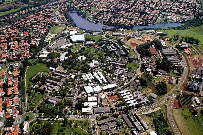 Vista área da Universidade Estadual de Campinas, uma das três universidades sob investigação na Alesp